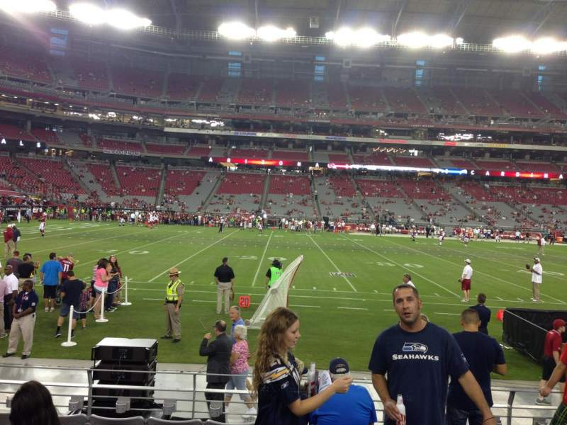 Seating view for University Of Phoenix Stadium Section 132 Row 7 Seat 12