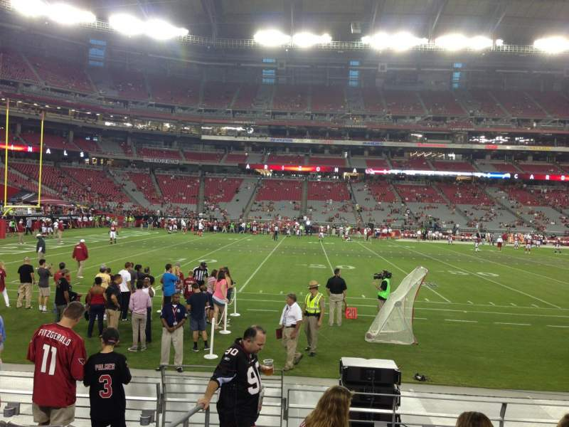 Seating view for University Of Phoenix Stadium Section 132 Row 7 Seat 18