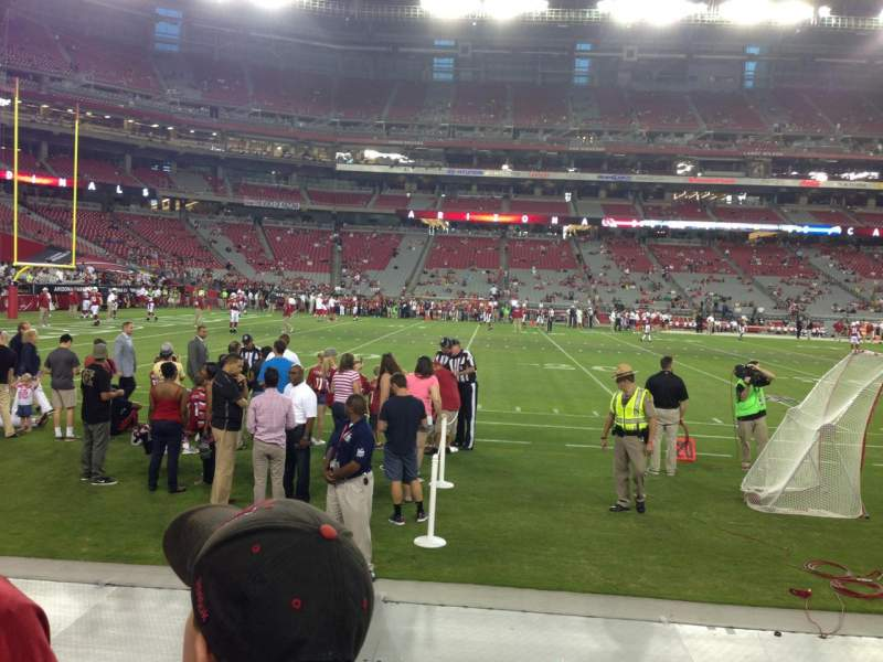Seating view for University Of Phoenix Stadium Section 133 Row 2 Seat 1