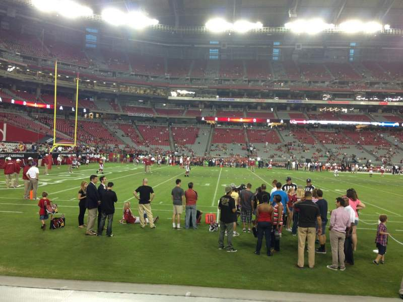 Seating view for University Of Phoenix Stadium Section 133 Row 2 Seat 5