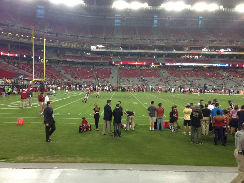 Seating view for University Of Phoenix Stadium Section 133 Row 2 Seat 18