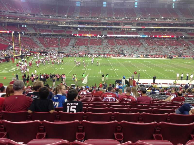 Seating view for University Of Phoenix Stadium Section 132 Row 35 Seat 7