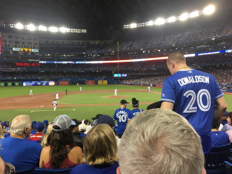 Seating view for Rogers Centre Section 126 Row 22 Seat 101