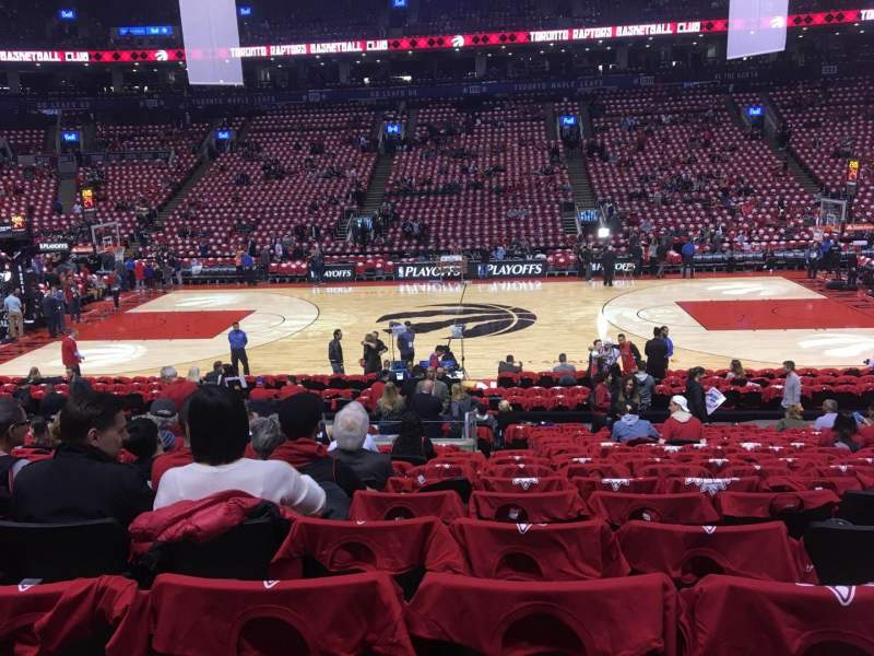 Seating view for Scotiabank Arena Section 108 Row 17 Seat 9