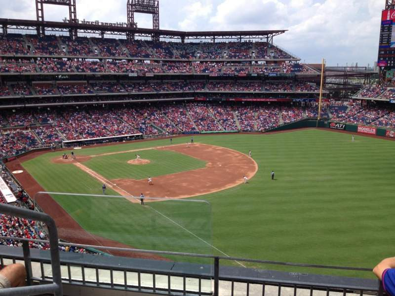 Seating view for Citizens Bank Park Section 308 Row 3 Seat 24