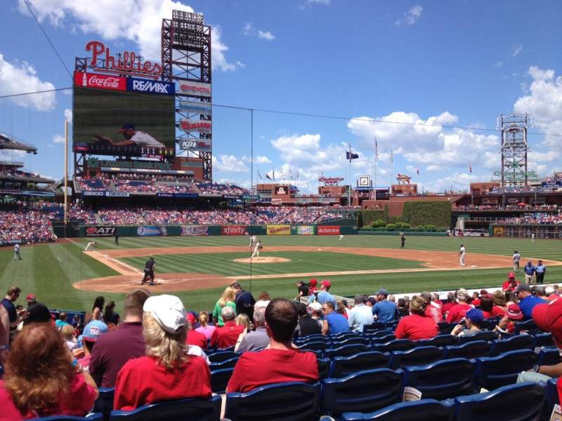 Seating view for Citizens Bank Park Section F Row 19 Seat 10