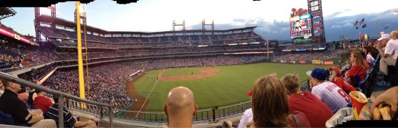 Seating view for Citizens Bank Park Section 204 Row 3 Seat 23
