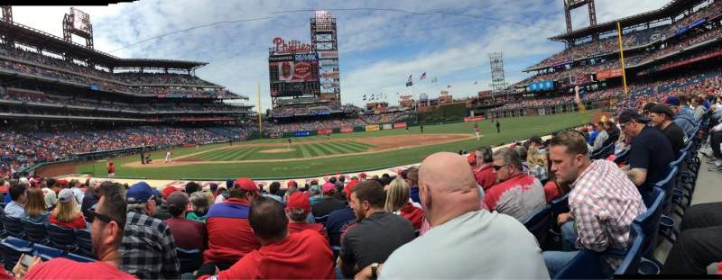 Seating view for Citizens Bank Park Section 117 Row 11 Seat 17