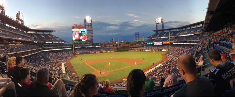 Seating view for Citizens Bank Park Section 220 Row 5 Seat 9