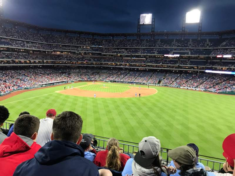 Seating view for Citizens Bank Park Section 201 Row 4 Seat 9
