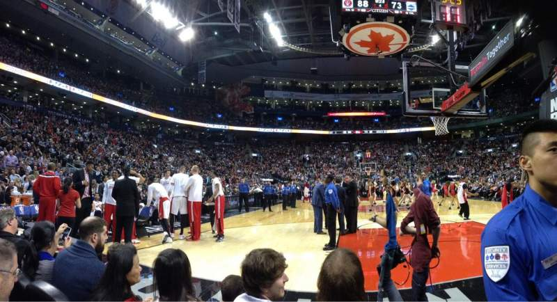 Seating view for Air Canada Centre Section CRTW Row C Seat 13