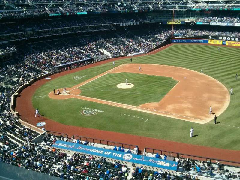 Seating view for Citi Field Section 406 Row 1 Seat 6