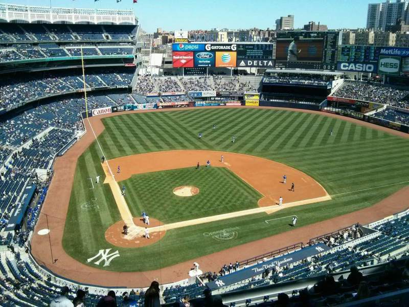 Seating view for Yankee Stadium Section 418 Row 1 Seat 19