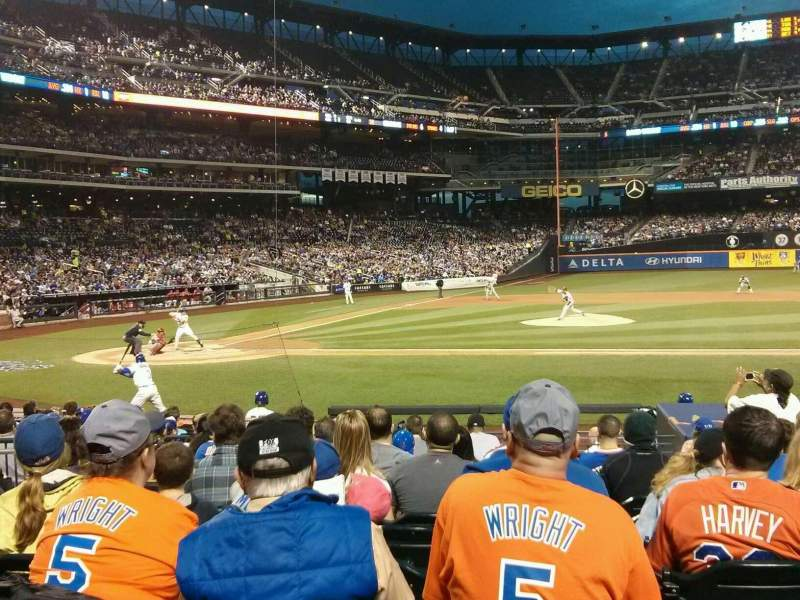 Seating view for Citi Field Section 114 Row 12 Seat 7