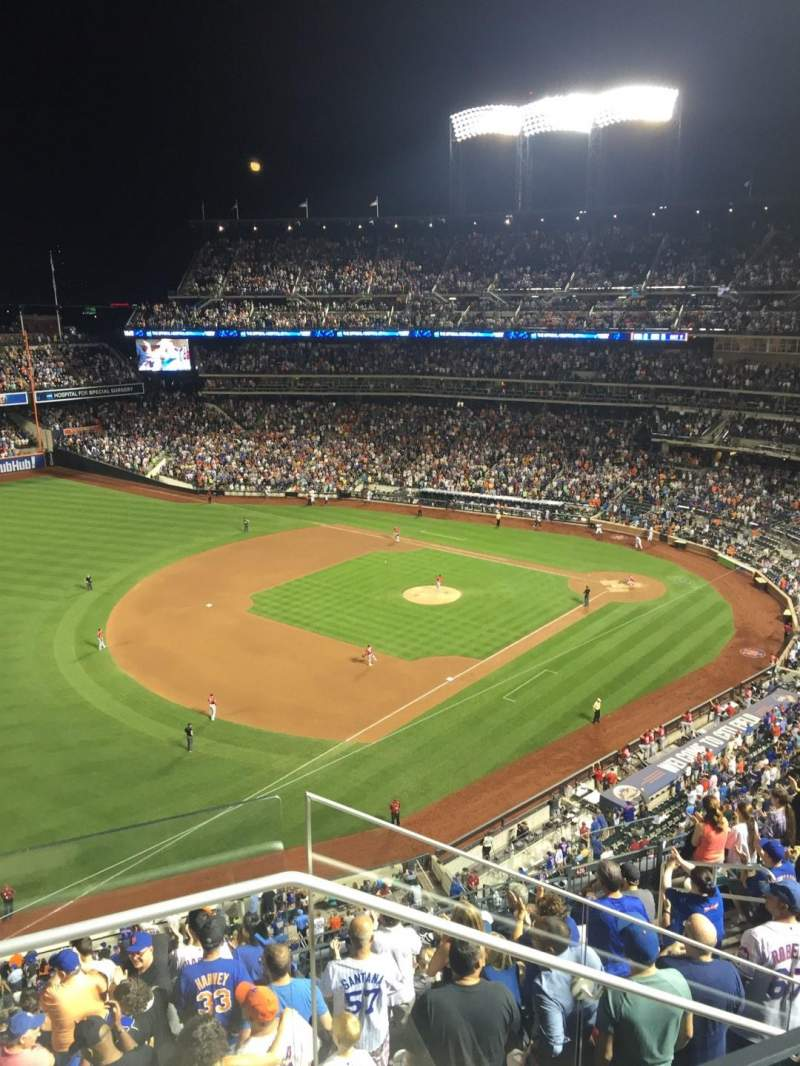 Seating view for Citi Field Section 526 Row 11 Seat 1