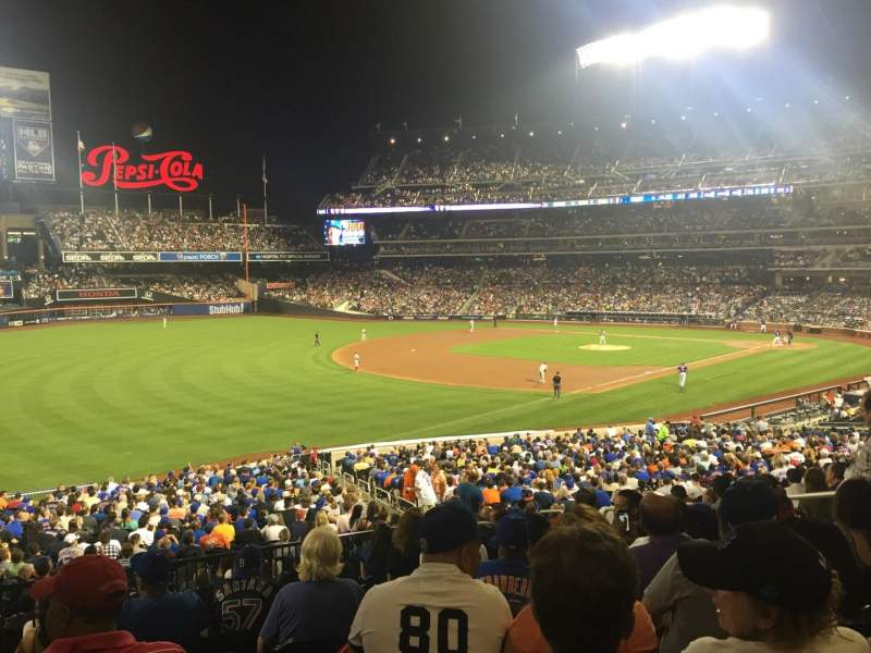Seating view for Citi Field Section 127 Row 34 Seat 8