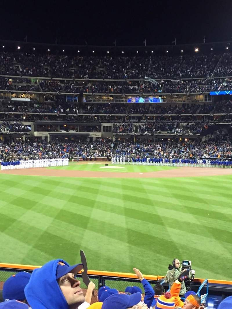 Seating view for Citi Field Section 142 Row 8