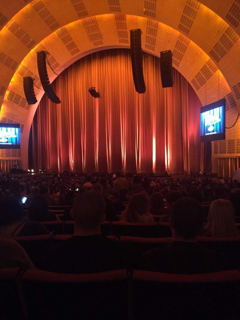 Seating view for Radio City Music Hall Section Orchestra 2 Row N Seat 203