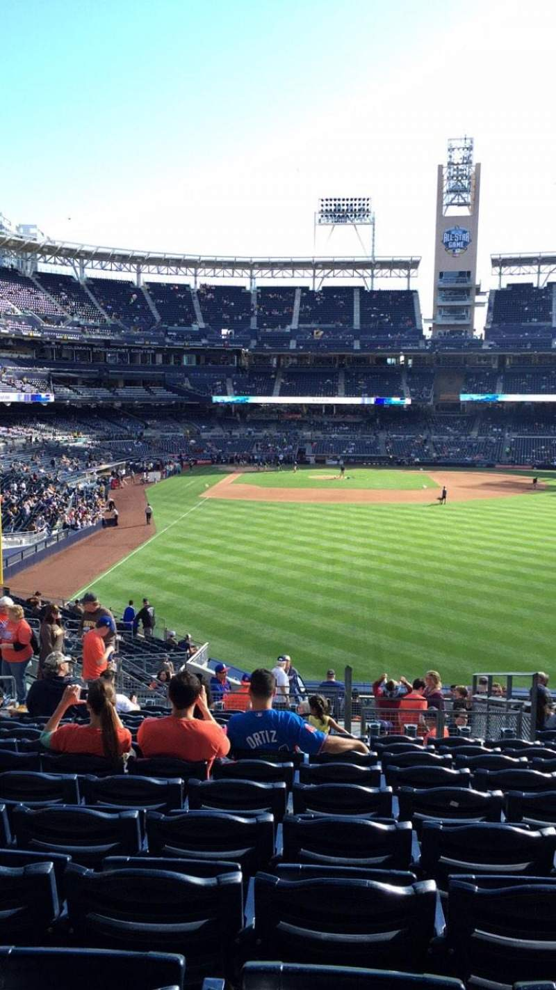 Seating view for PETCO Park Section RL131 Row 20 Seat 8