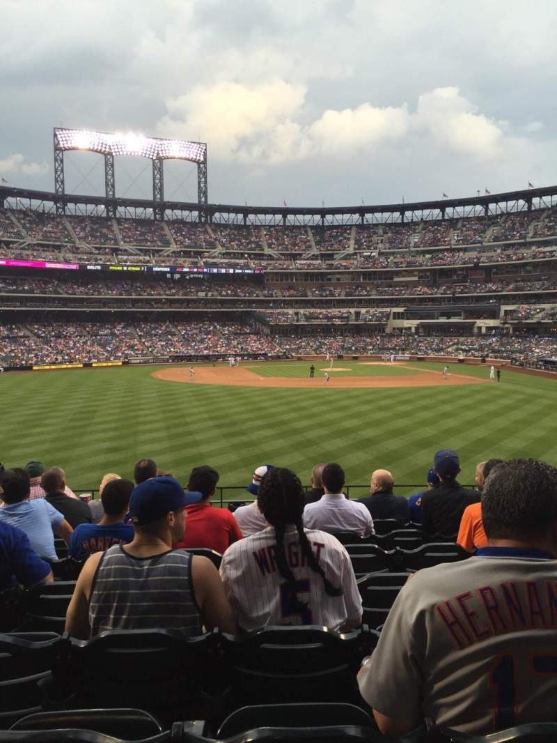 Seating view for Citi Field Section 136 Row 8 Seat 11