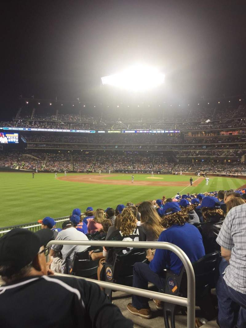 Seating view for Citi Field Section 130 Row 18 Seat 2