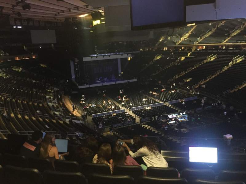 Seating view for Madison Square Garden Section 202 Row 5 Seat 9