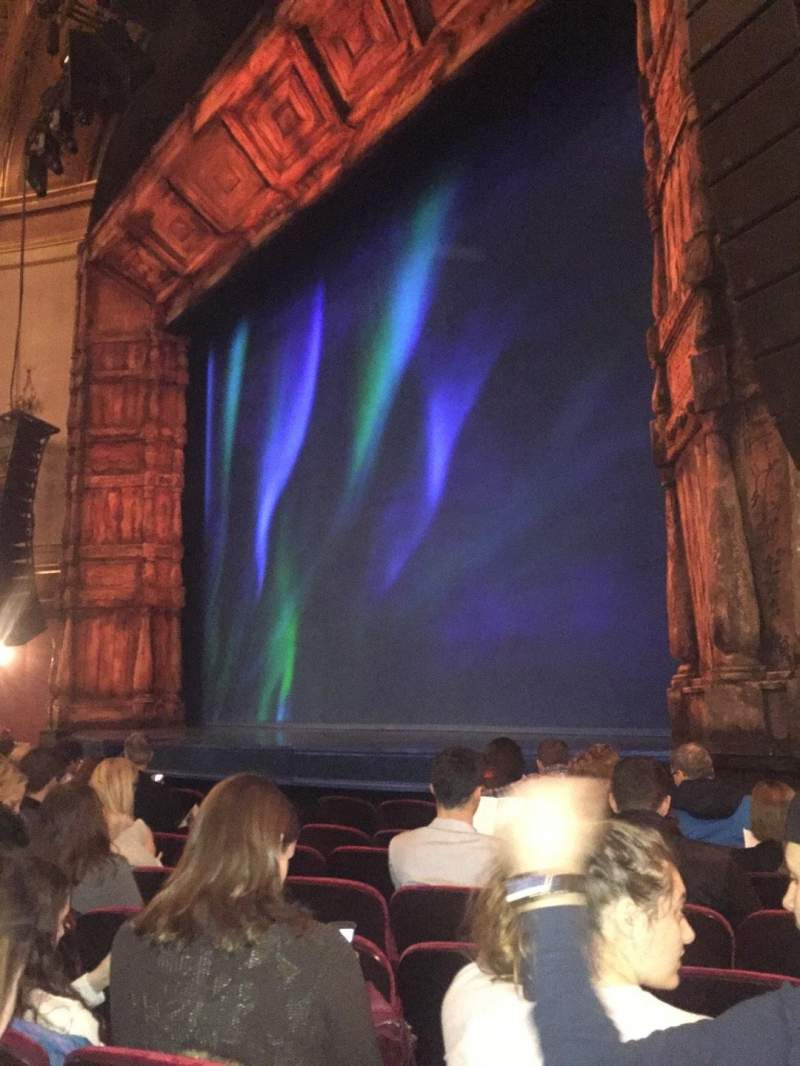 Seating view for St. James Theatre Section Orchestra R Row G Seat 22