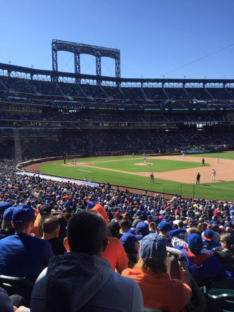 Seating view for Citi Field Section 110 Row 29 Seat 18