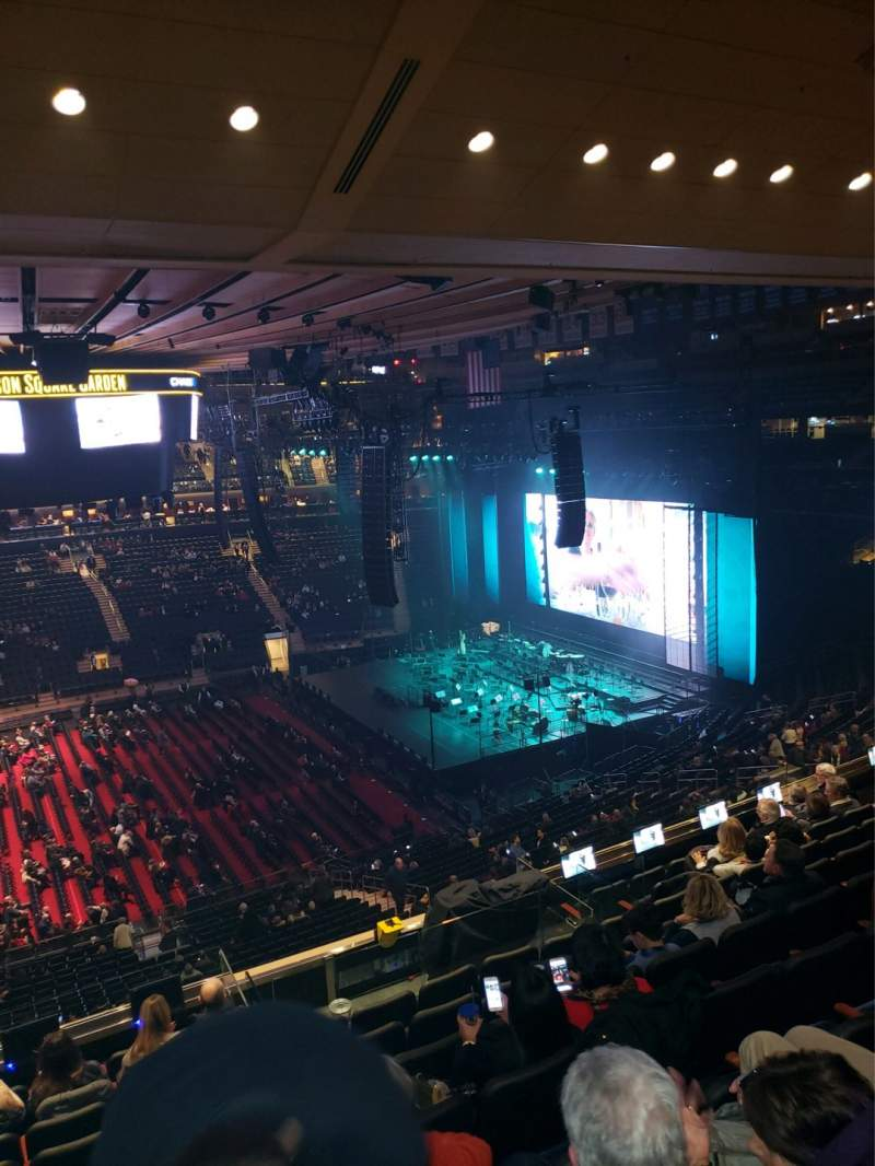 Seating view for Madison Square Garden Section 211 Row 10 Seat 1