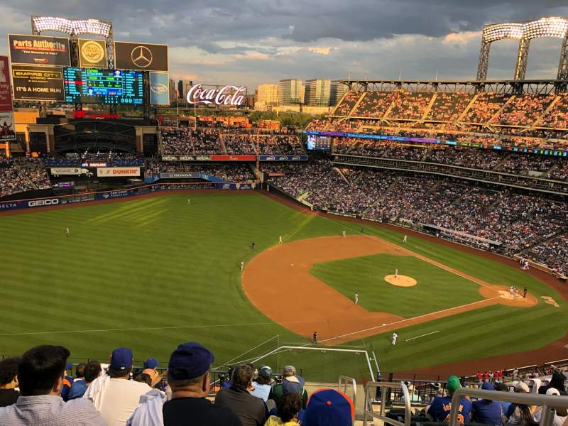 Seating view for Citi Field Section 525 Row 9 Seat 1