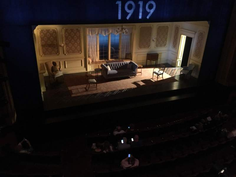American Airlines Theatre, section: Mezzanine, row: A, seat: 130