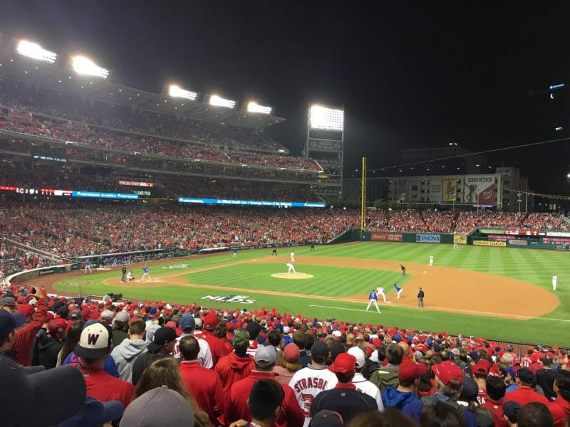 Seating view for Nationals Park Section 130 Row NN Seat 1