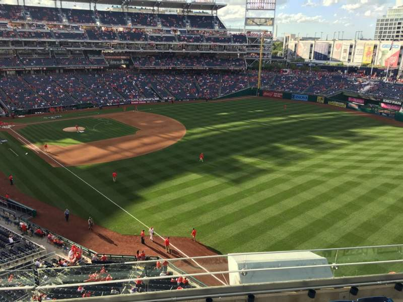 Seating view for Nationals Park Section 230 Row F Seat 16