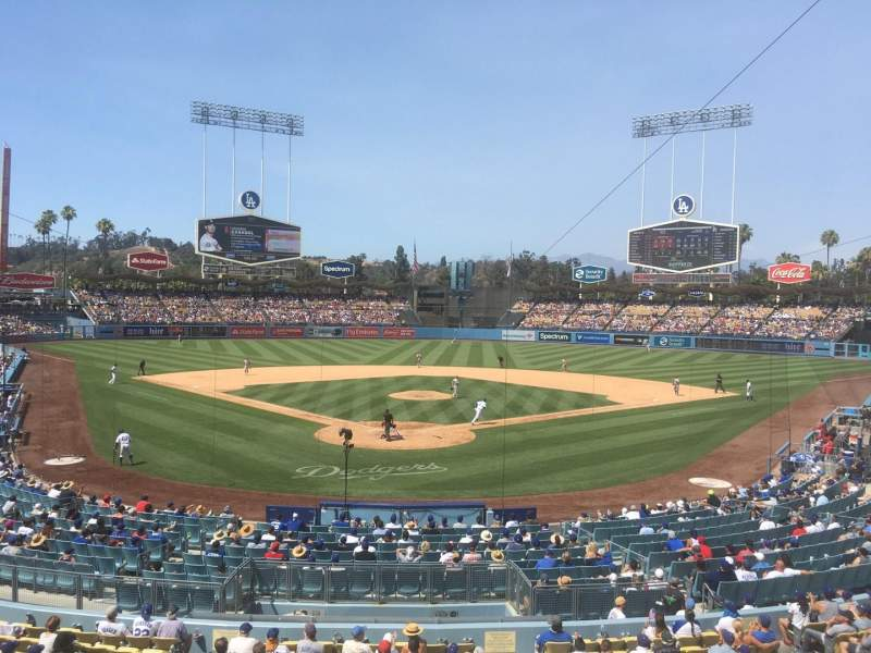 Seating view for Dodger Stadium Section 108LG Row A Seat 1