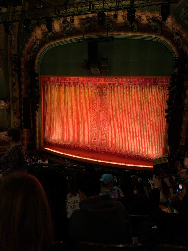 Seating view for New Amsterdam Theatre Section Mezzanine R Row E Seat 6