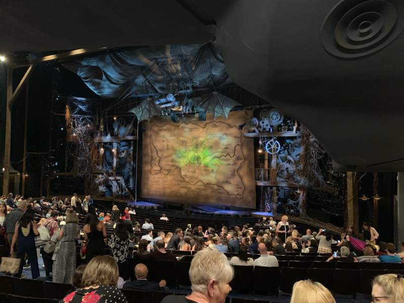 Seating view for Gershwin Theatre Section Orchestra R Row V Seat 28