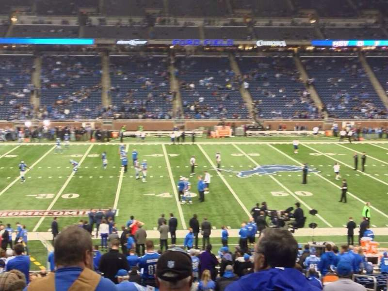 Seating view for Ford Field Section 105 Row 31 Seat 13