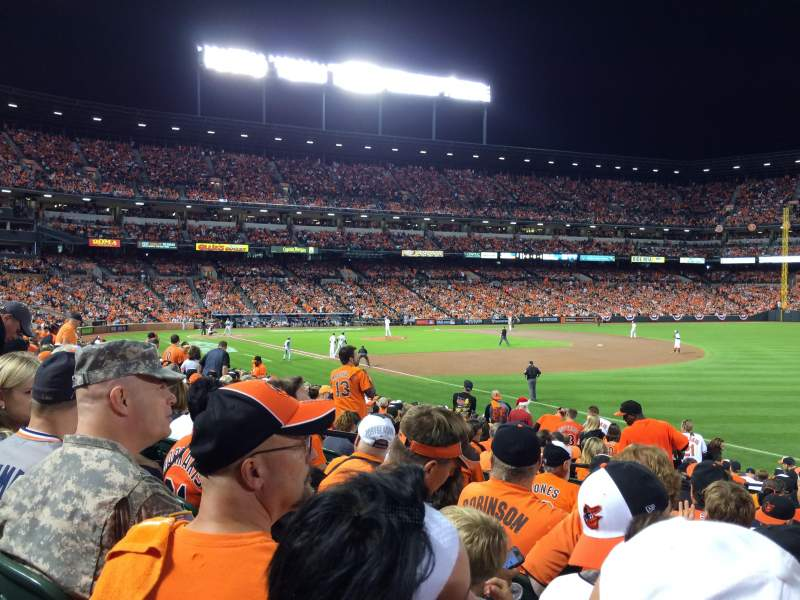 Seating view for Oriole Park at Camden Yards Section 10 Row 19 Seat 9