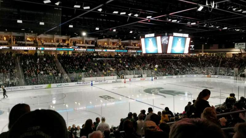 Seating view for Munn Ice Arena Section L Row 17 Seat 10