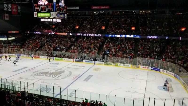 Van Andel Arena, section: 206, row: E, seat: 21