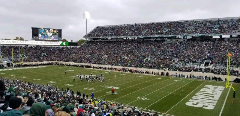 Seating view for Spartan Stadium Section 20 Row 45 Seat 43