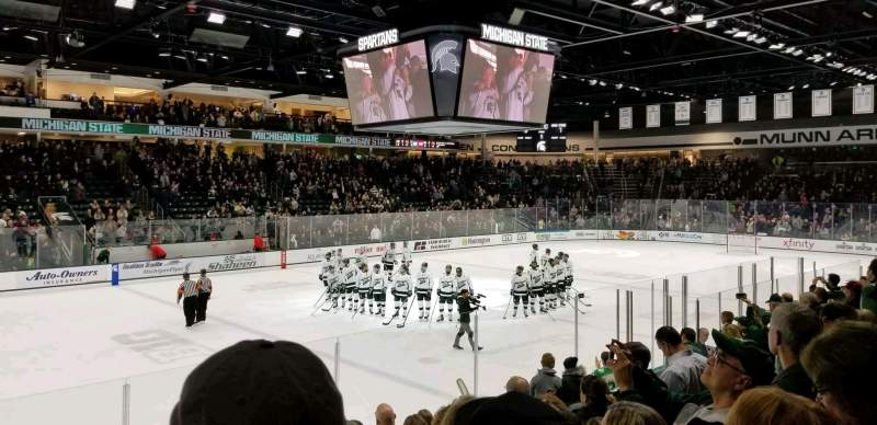 Seating view for Munn Ice Arena Section W Row 10 Seat 12