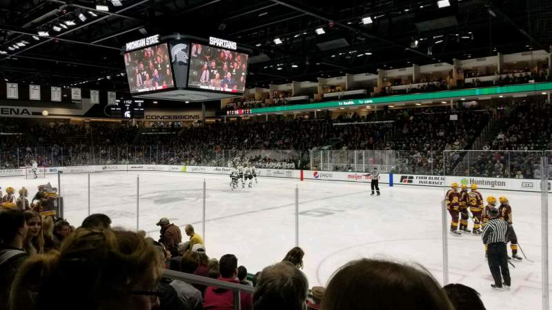 Seating view for Munn Ice Arena Section F Row 8 Seat 8