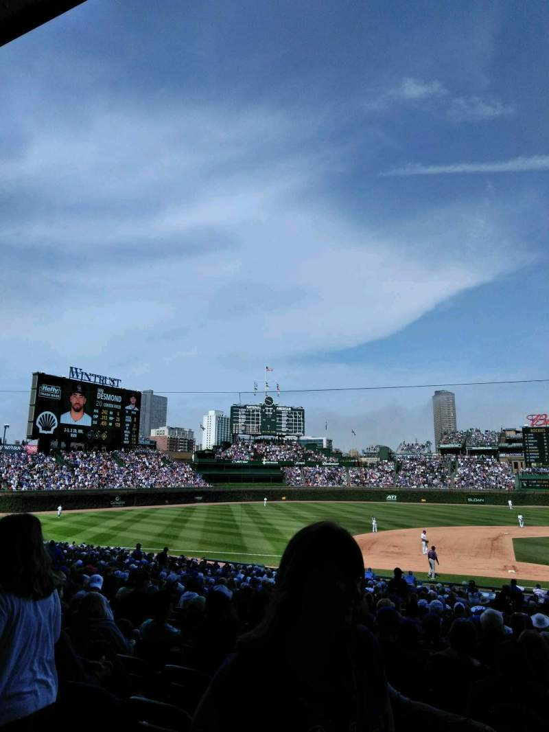 Seating view for Wrigley Field Section 212 Row 1 Seat 2