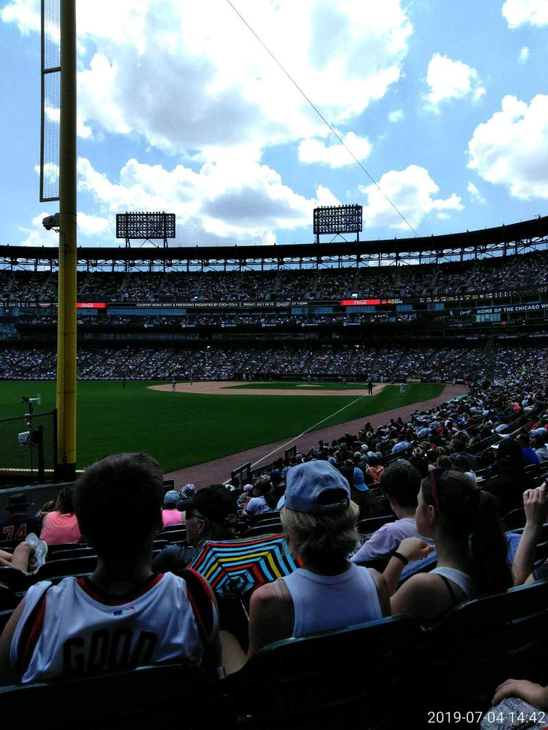 Seating view for Guaranteed Rate Field Section 155 Row 19 Seat 7