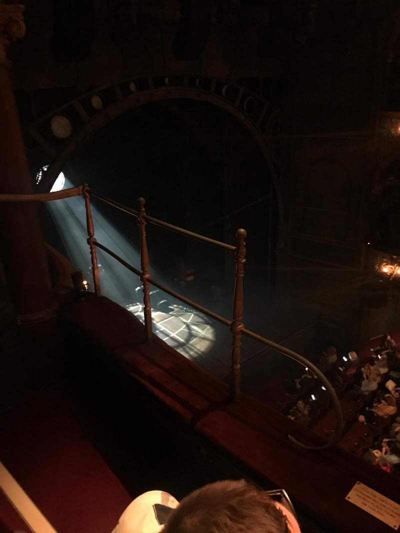 Seating view for Palace Theatre (West End) Section grand circle Row b Seat 43
