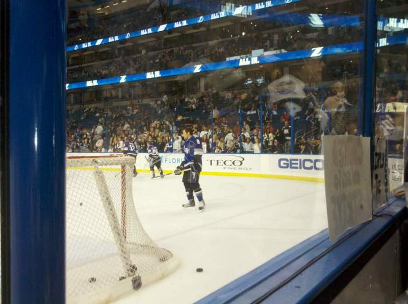 Seating view for Amalie Arena Section 129 Row a Seat 5