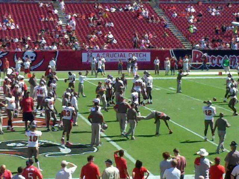 Seating view for Raymond James Stadium Section 134 Row h Seat 8