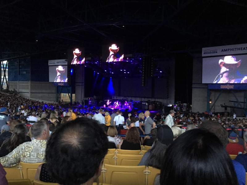 American family insurance amphitheater interactive for Restaurant seating chart app