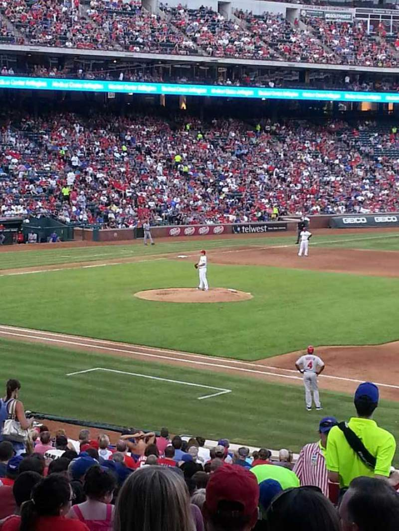 Seating view for Globe Life Park in Arlington Section 36 Row 29 Seat 4
